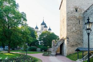 Estonia, Tallinn, Domberg, Danish Royal Garden, Alexander Nevsky Cathedral