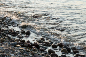 Estonia, Baltic Sea island Saaremaa, southern tip, creeks, coast, stones