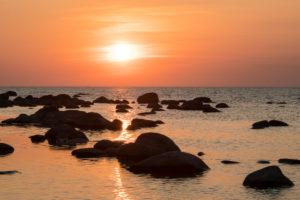 Estonia, Baltic Sea island of Hiiumaa, archipelago coast, evening mood