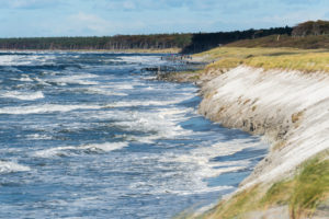 Baltic Sea, Fischland, Darß, west beach, coast at storm surge, beach washed away