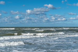 Baltic Sea, Fischland, Darß, Weststrand, coast at storm surge