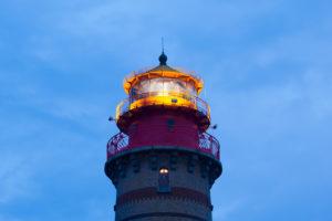 Rügen, Kap Arkona, neuer Leuchtturm, Leuchtfeuer in Betrieb