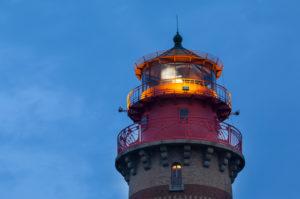 Kap Arkona, neuer Leuchtturm, blaue Stunde