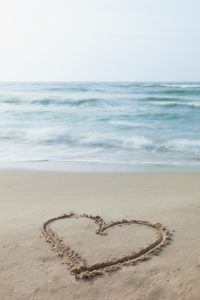 Baltic Sea, island of Rügen, Cape Arkona, beach, heart in the sand, symbol love