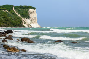 Rügen, Kap Arkona, Steilküste, Strand, Wellen