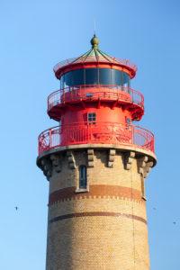 Rügen, Kap Arkona, neuer Leuchtturm im Abendlicht
