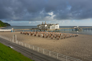 Baltic Sea, island of Rügen, baltic resort Sellin, pier, morning mood, deserted