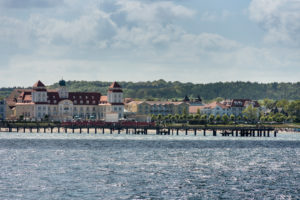 island of Rügen, baltic resort Binz, Kurhaus, pier, view from the water