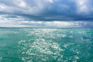 Ostsee, Fischland, Darss, Seebad Wustrow, Blick zum Meereshorizont, türkisfarbenes Wasser