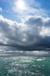 Baltic Sea, Fischland, Darss, Seebad Wustrow, approaching thunderstorm
