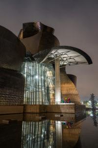 Spanien, Bilbao, Guggenheim-Museum, Architektur, Nachtaufnahme