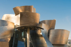 Spain, Bilbao, Guggenheim Museum, architecture, facade, metal