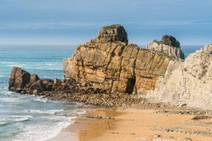 Spanien, Nordküste, Kantabrien, Costa Quebrada, Geopark, Playa el Portio