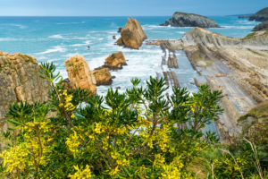 Spain, north coast, Cantabria, Costa Quebrada, Geopark