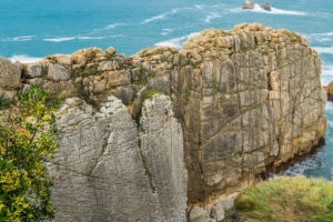Spain, north coast, Cantabria, Costa Quebrada, geopark, climber, search picture