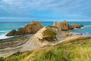 Spain, north coast, Cantabria, Costa Quebrada, beach, Playa de Arnia