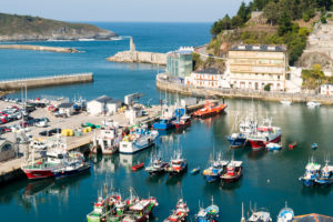 Spain, north coast, Asturias, Luarca, fishing port