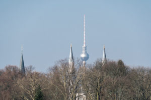 Berlin, icon image, mosque, church, television tower (Islam, Christianity, atheism)