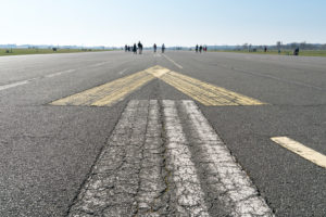 Berlin, Tempelhofer Feld, former runway, pedestrians and cyclists