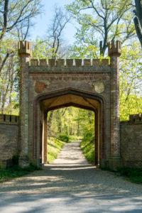 Berlin, Wannsee, Glienicke Park, gate, hiking trail