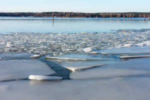 Berlin, Wannsee, winter mood, ice drift