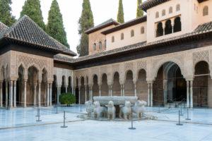 Granada (Spain), Alhambra, Palacios Nazaries, Patio de los Leones, Löwenhof