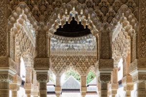 Spanien, Granada, Alhambra, Palacios Nazaries, Patio de los Leones, Löwenhof