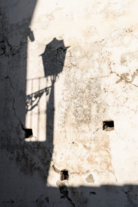 Spain, Granada, Albaicin, Calle del Pilar Seco, lantern with shadow, light & shadow