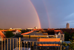 Berlin, roof terrace, rainbow, side rainbow, Alexander's dark ribbon