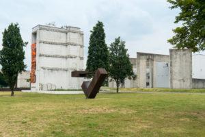 Duisburg, inner harbor, garden of remembrance,