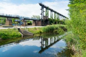 Duisburg, Landschaftspark Nord, ehemaliges Hüttenwerk, Alte Emscher, Freizeitgelände