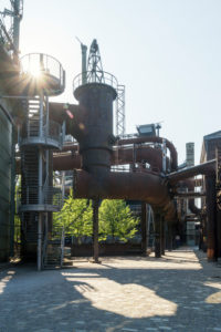 Duisburg, Landschaftspark Nord, former iron and steel works, casting hall 1