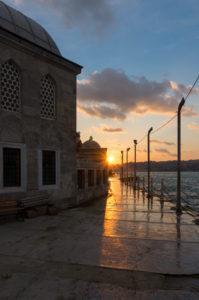 Türkei, Istanbul, Üsküdar, Semsi-Pasa-Moschee, Abendstimmung