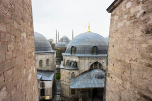 Türkei, Istanbul, Hagia Sophia, Moschee, Blick nach außen
