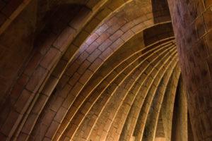 Barcelona, Casa Milá, La Pedrera, Antoni Gaudi, architectural monument, interior with dome