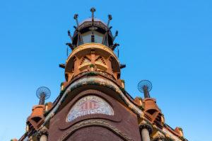 Barcelona, Palau de la Musica Catanala, concert hall, palace, facade, Unesco world heritage site