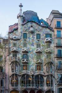 Barcelona, Casa Battlo, Paseo de Gracia, architect Antoni Gaudi
