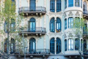 Barcelona, Rambla de Catalunya, facade, Catalan Art Nouveau