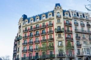 Barcelona, Rambla de Catalunya, Fassade, katalanischer Jugendstil