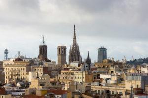 Barcelona, Dachterrasse, Altstadtblick, Morgenlicht