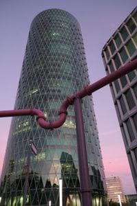 Frankfurt am Main, Hesse, Germany, Westhafen Tower