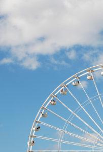 Riesenrad, Jahrmarkt, Karussell, Himmel, Detail