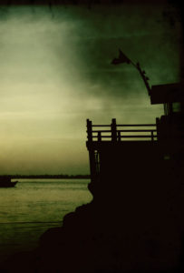Vietnam, sea, water, detail, view, silhouette, ship
