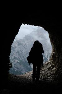 Vietnam, Höhle, Ausblick, Mensch, Wanderer, Natur, Landschaft, Silhouette