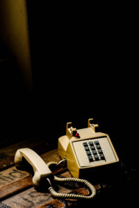 Old American phone, retro