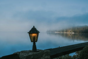 Kochelsee, Bavaria, Germany, lake, water, foggy morning, clouds, haze