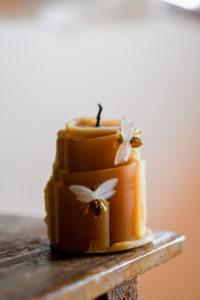 Kerze aus Bienenwachs