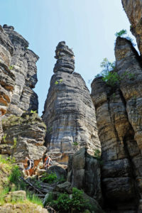 The romantic Bielatal with the bizarrely towering climbing rock small and big Hercules' Pillars is one of the most popular hiking destinations in the Saxon Switzerland.