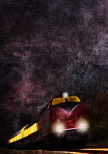 Train, Locomotive, Night, Graphic, Photograph, [M], RailArt