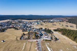 Germany, Thuringia, Ilmkreis, Großbreitenbach, Neustadt / Rennsteig, overview, landscape, deserted, aerial view